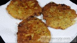 Homemade potato fritters