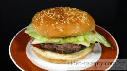 Homemade juicy hamburger