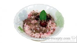 Rice cup with raspberries